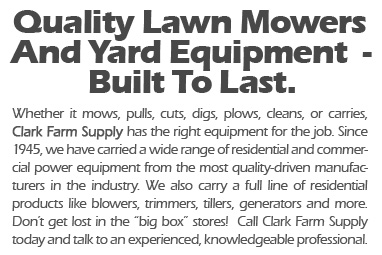 lawn mowers and yard equipment