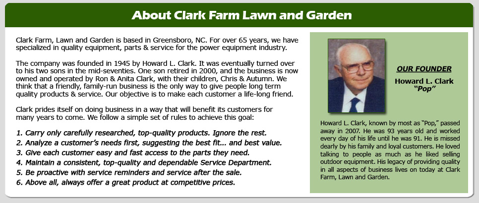 About Clark Farm Lawn and Garden